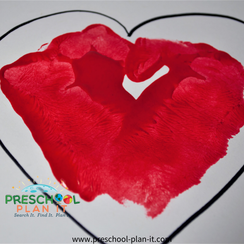 Preschool Valentines Day Theme Art Activity