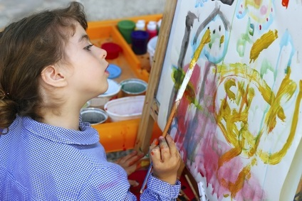 preschool easel art activities