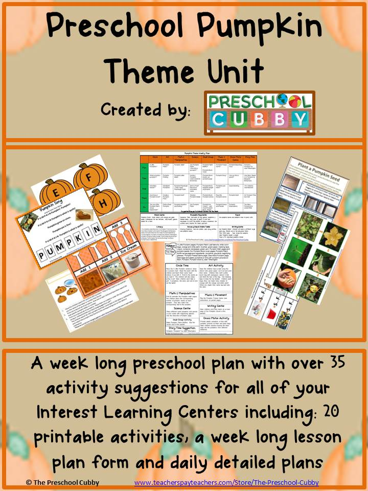 Preschool Pumpkin Activities Theme