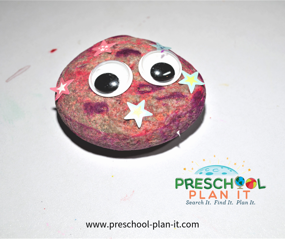 Rocks Theme for Preschool Art Activity