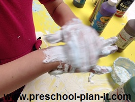 Shaving Cream in Preschool