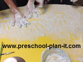 Shaving Cream in Preschool