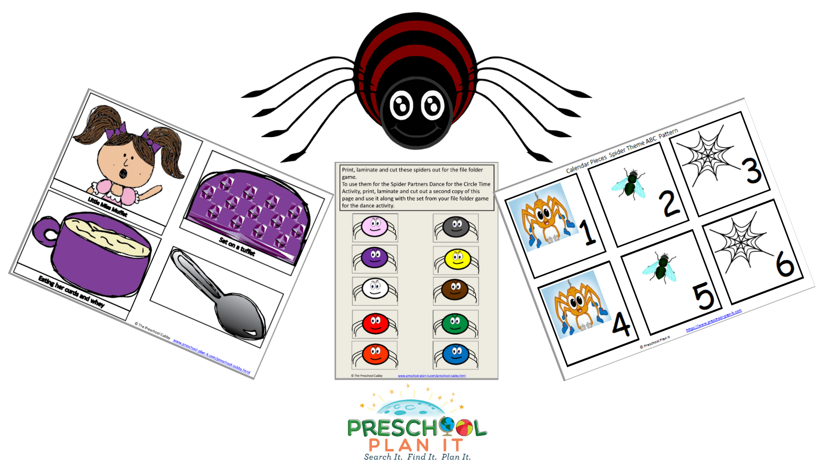 A 47 page Preschool Spider Theme--this is a week-long theme packet to help save you planning time!