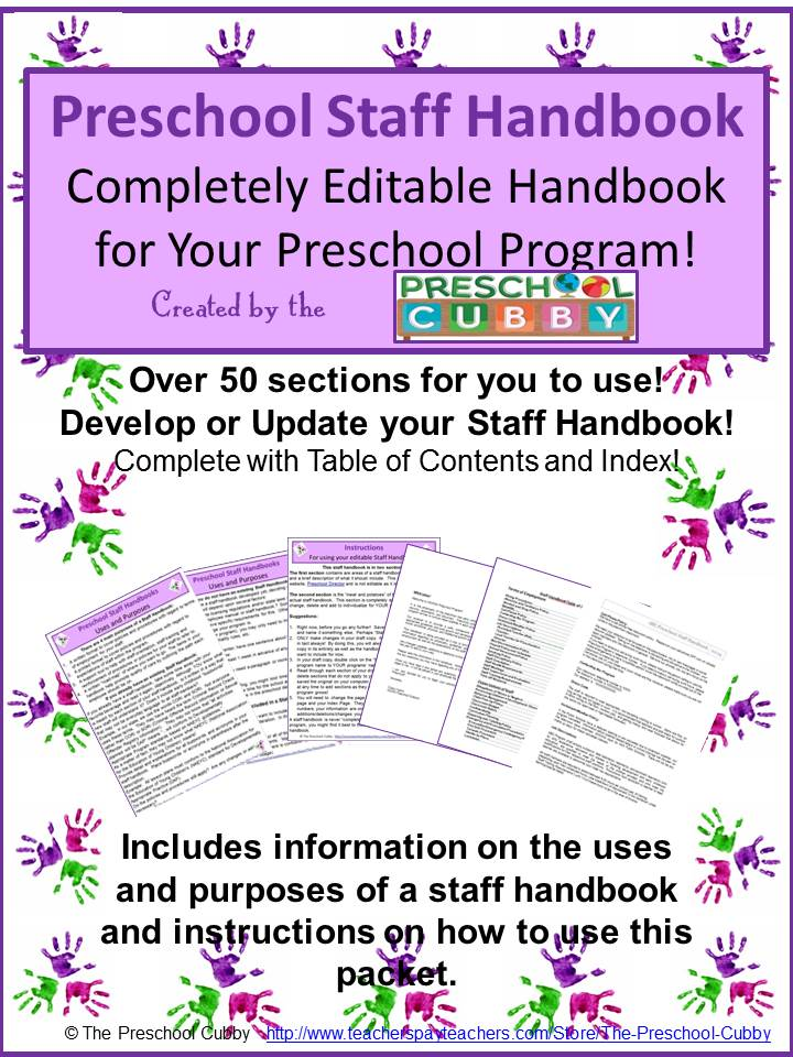 how to develop your own preschool staff handbook