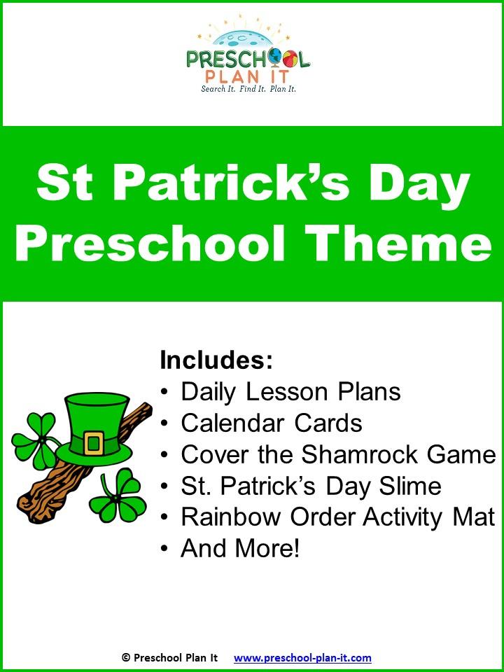 St. Patrick's Preschool Theme Packet Resource