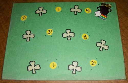 St Patrick's Day Preschool Theme Cover The Shamrocks Game