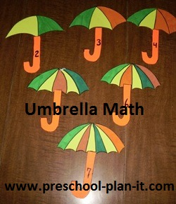 Umbrella Math Game