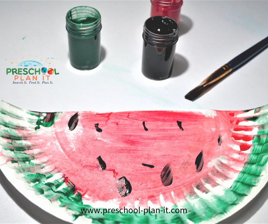 Watermelon Preschool Theme Art Activity