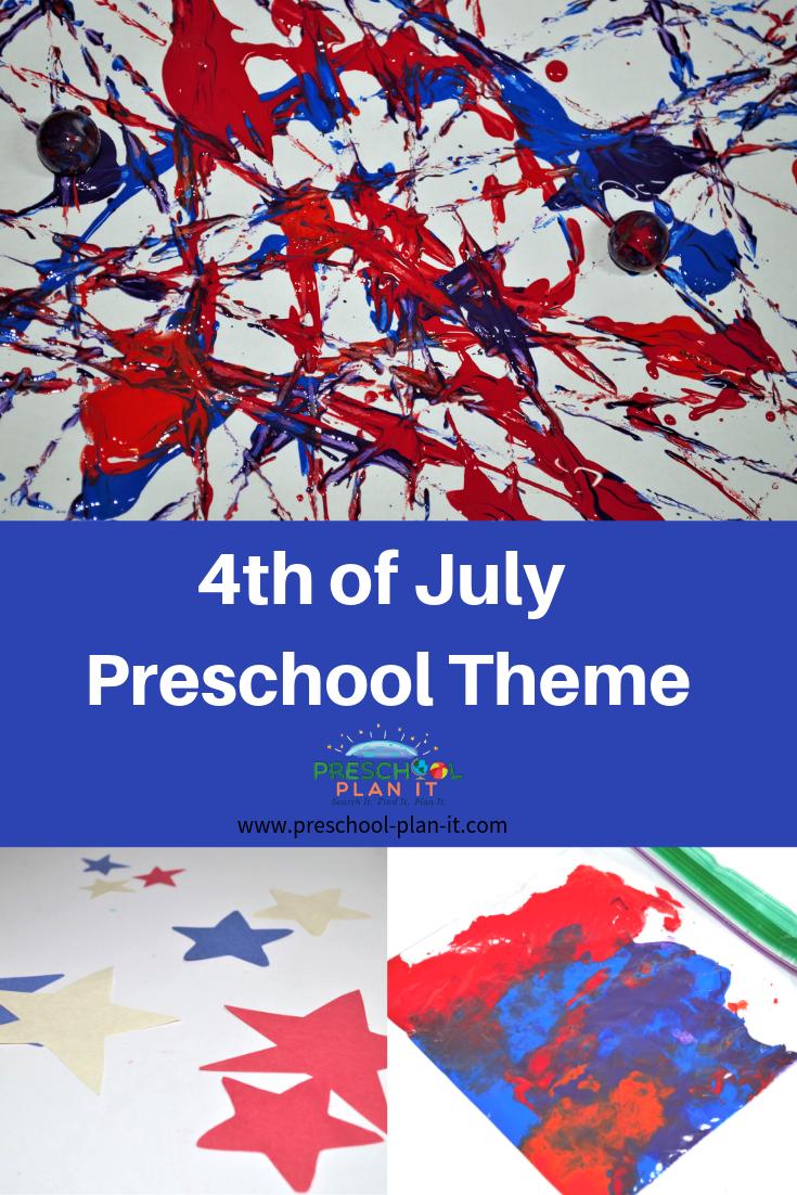 4th of July Preschool Theme
