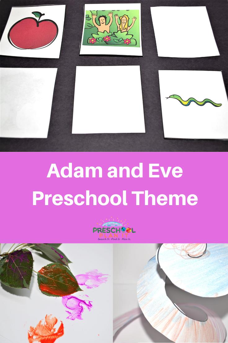 Adam and Eve Preschool Theme