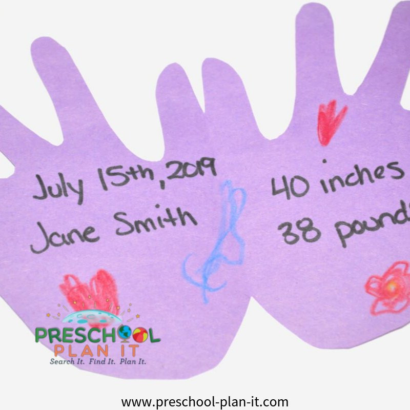 All About Me Preschool Theme Writing Activity