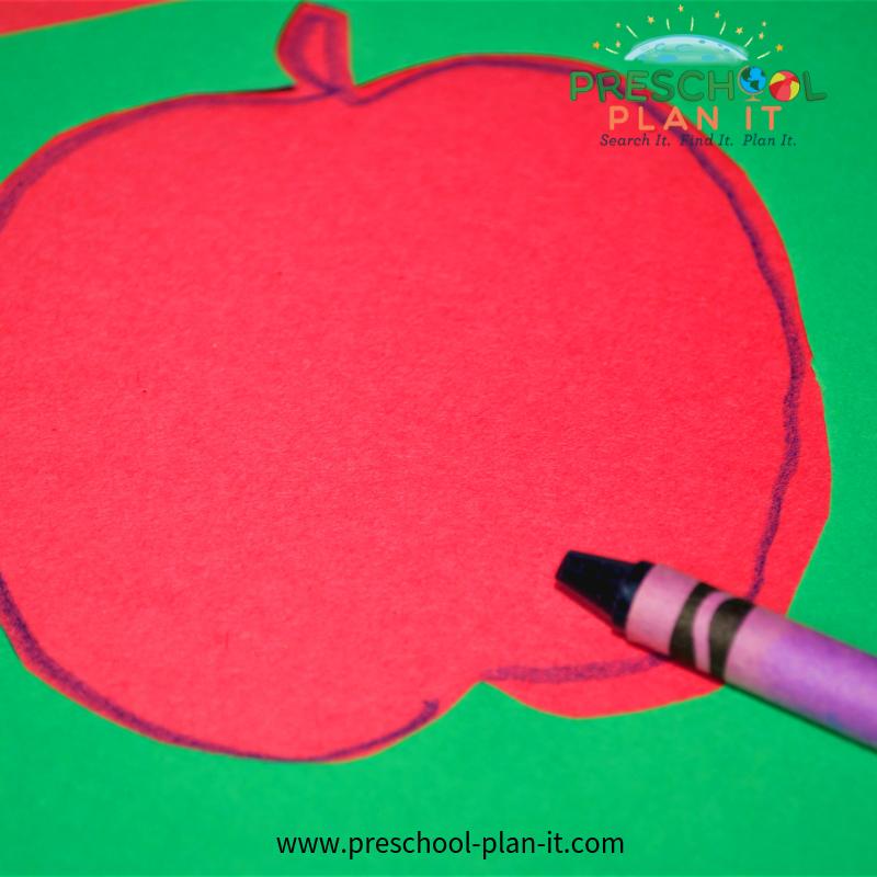 Apple Preschool Theme Tracing Activity
