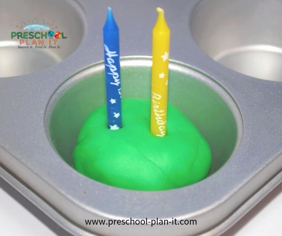 Birthday Preschool Theme Playdough Activity