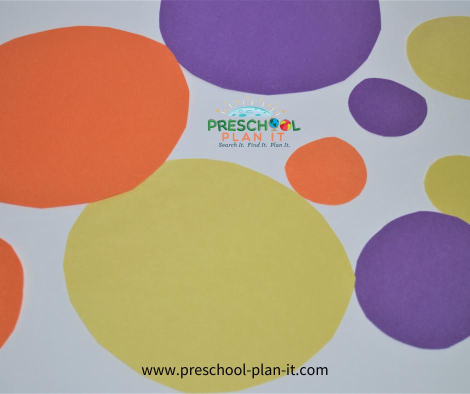 Bubbles Theme For Preschool Sorting Activity