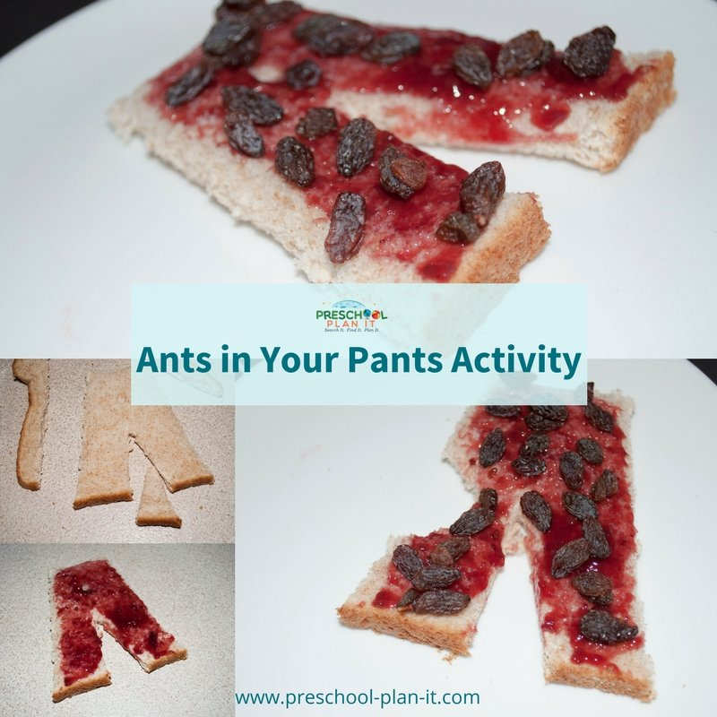 Ants In Your Pants toast for your Bugs and Insects preschool theme
