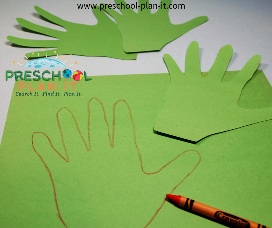 Hand Print Wreaths for a Christian Easter Activities Preschool Theme