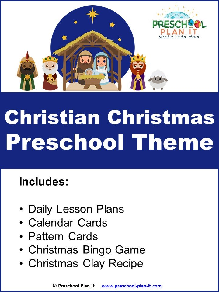 A 30 page Christian Christmas Preschool Theme resource packet to help save you planning time!