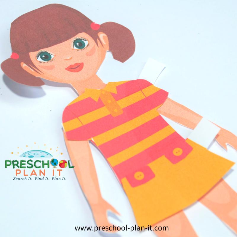Clothes Preschool Theme Paper Dolls
