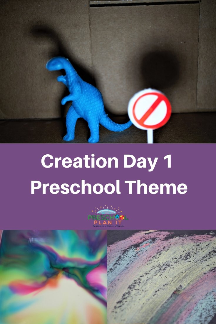 Creation Day 1 Preschool Theme