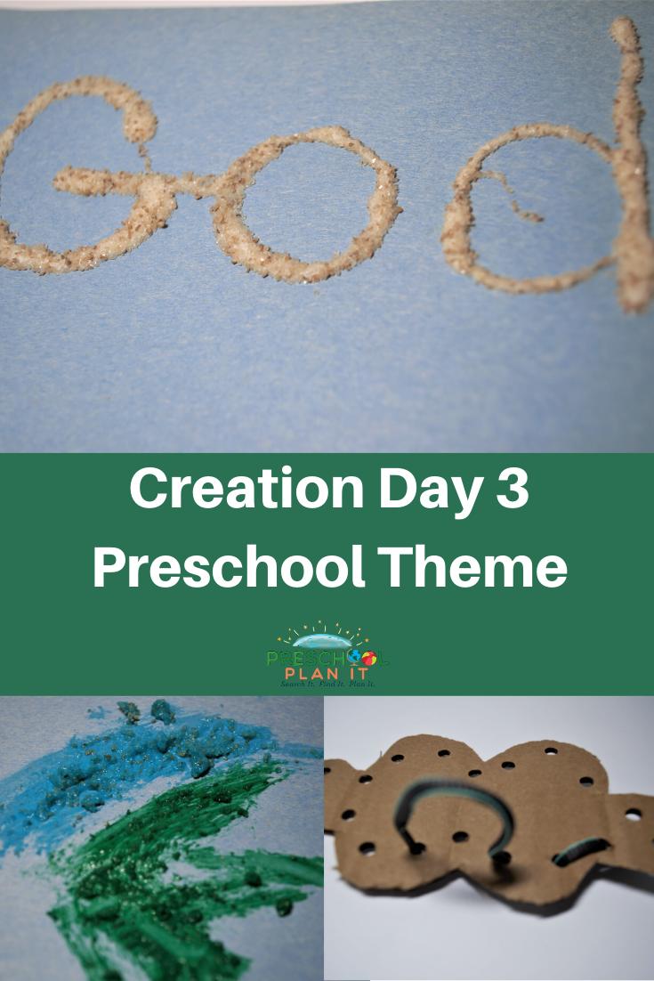 Creation Day 3 Preschool Theme