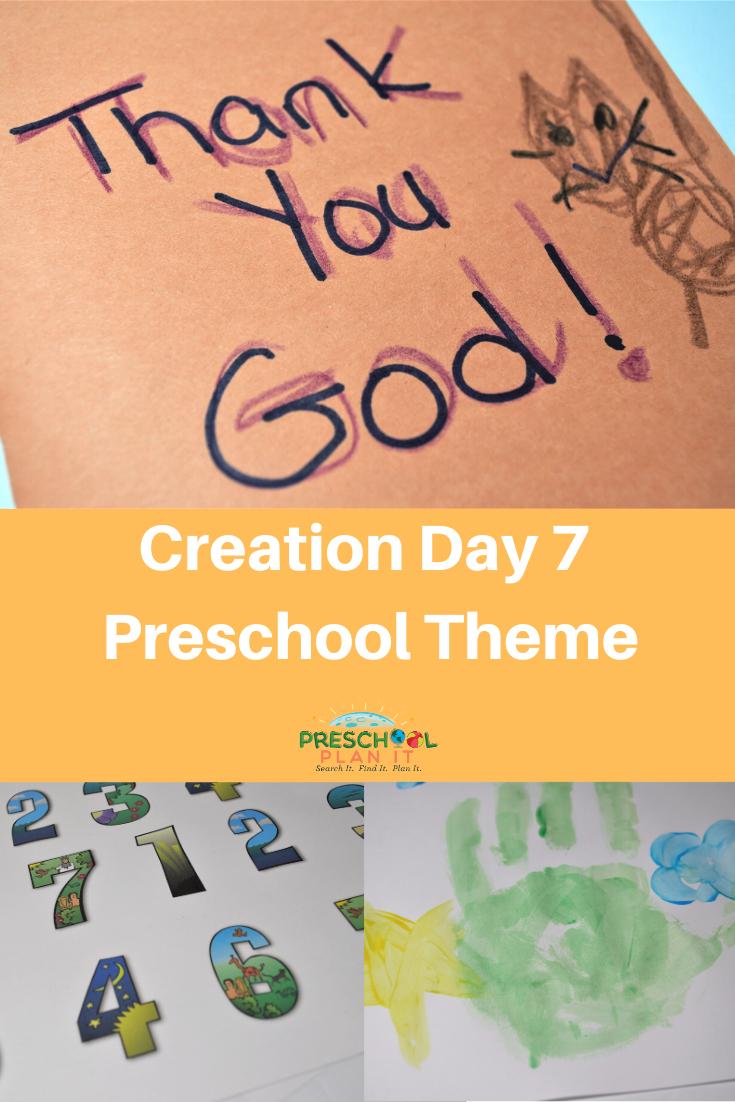 Creation Day 7 Preschool Theme