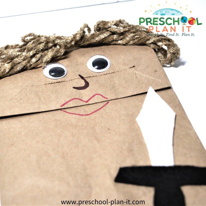 David and Goliath Preschool Theme Art Activity
