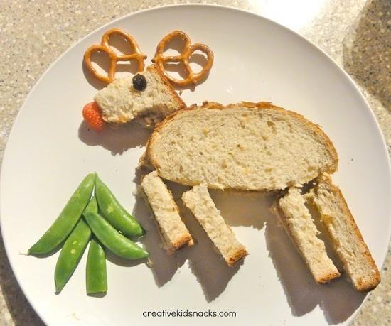 Reindeer Toast Preschool Snack for Woodland Animals Preschool Theme