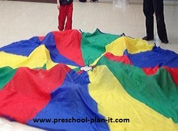 Parachute Play in Preschool