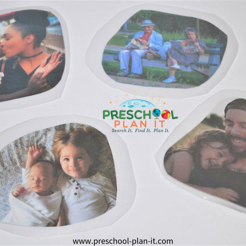 Family Activities Preschool Theme Gross Motor and Sorting Activity