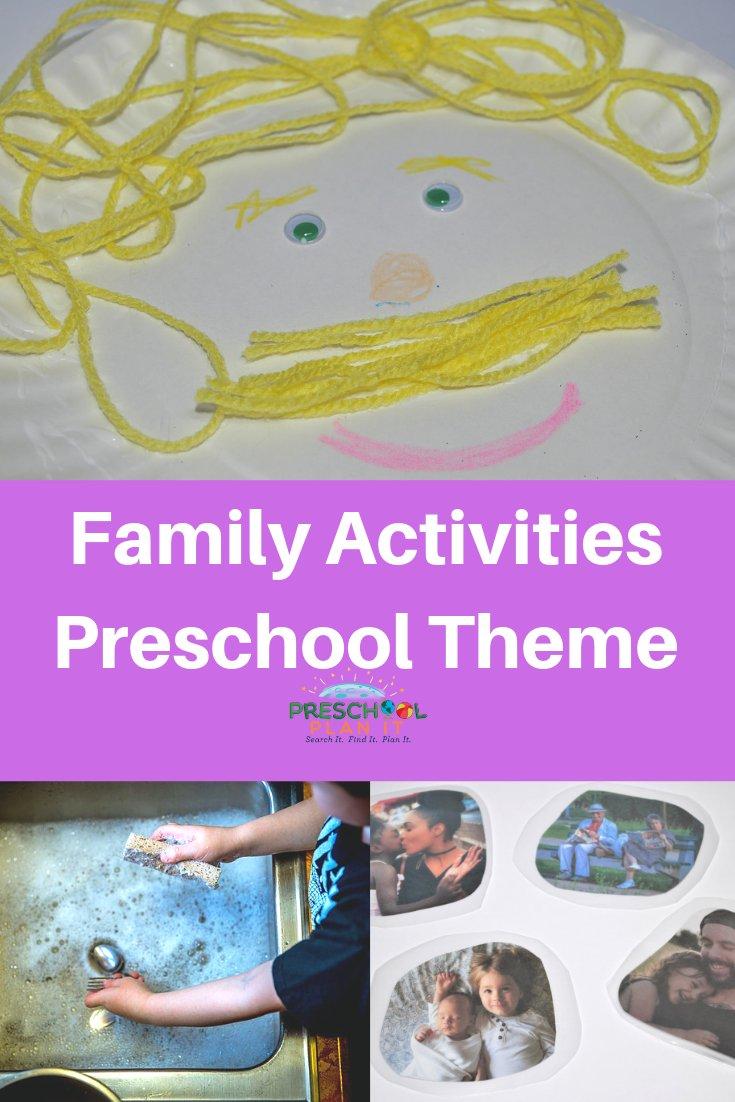 Family Activities Preschool Theme