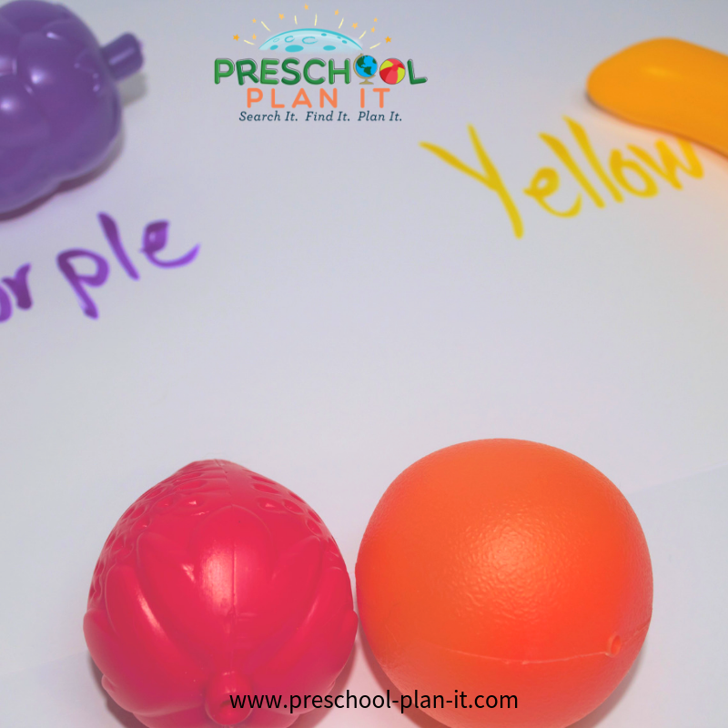 Fruits and Vegetables Preschool Theme Sorting Activity