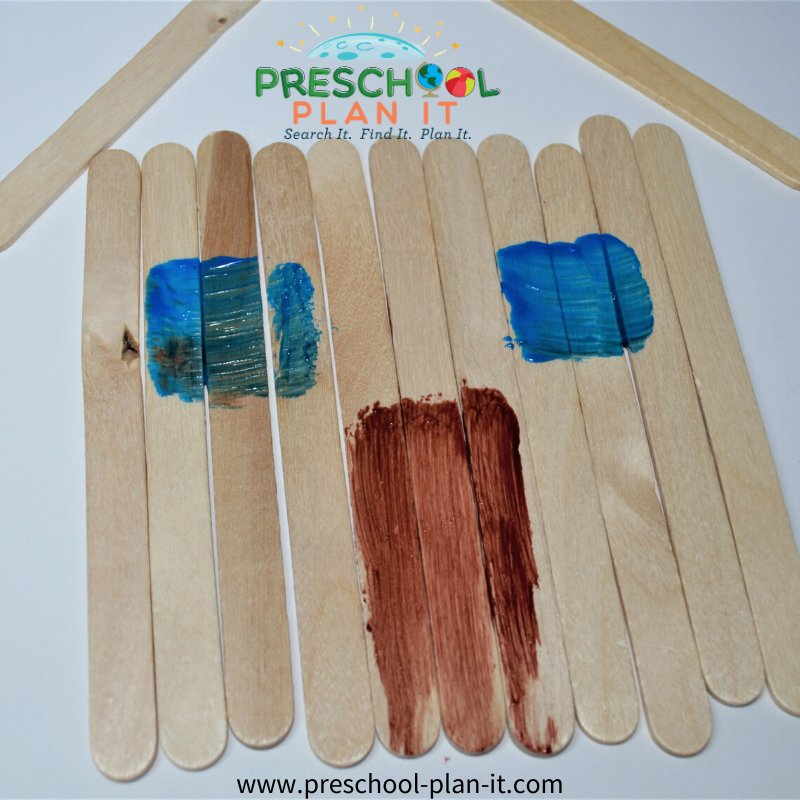 Home Preschool Theme Art Activity