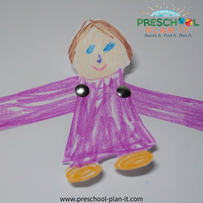 Jesus and the Children Preschool Theme Art Activity