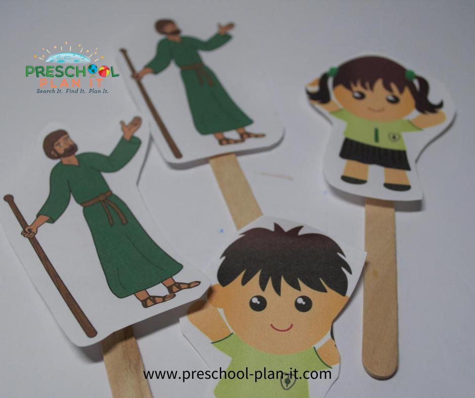 Jesus and the Children Preschool Theme Math Activity