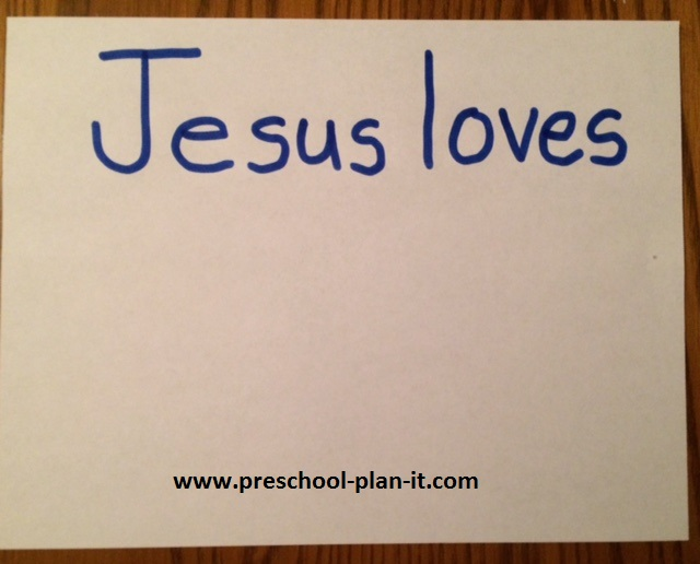 Jesus Loves Me Activity for a Preschool Theme