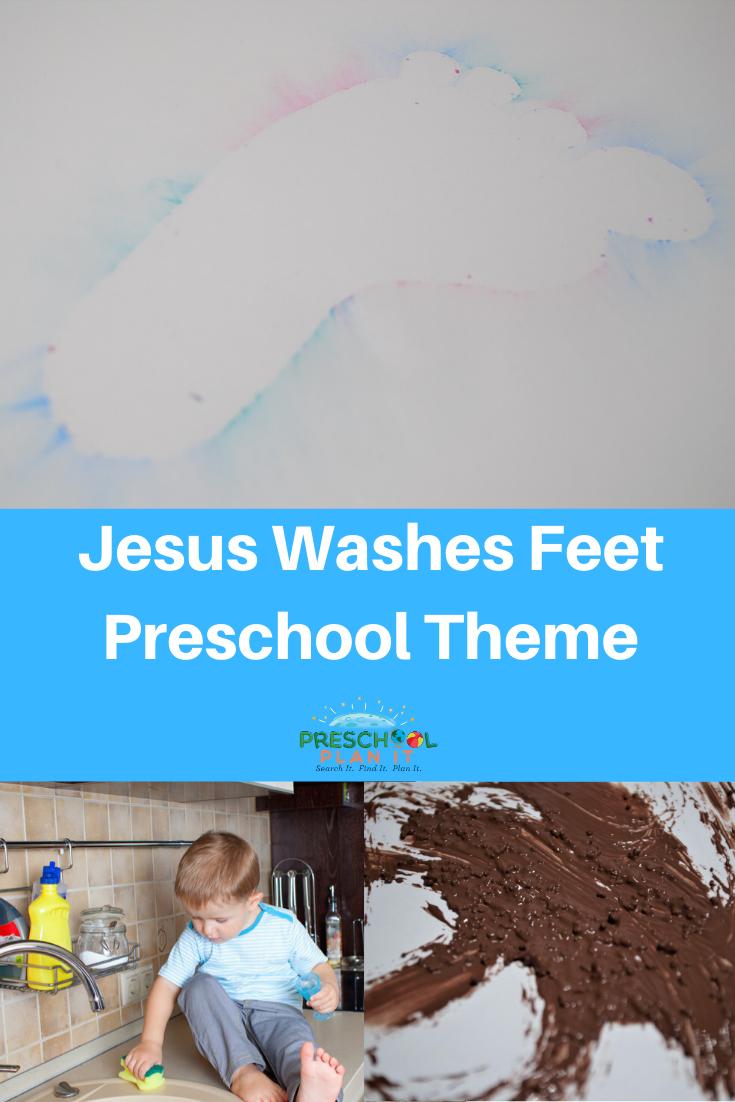 Jesus Washes Feet Preschool Bible Theme