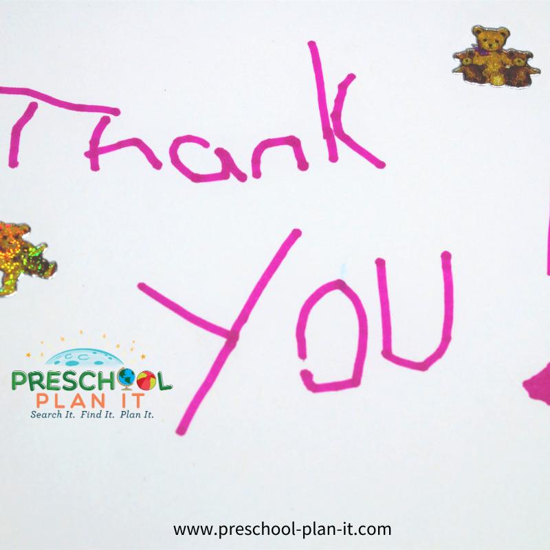 Manners Preschool Theme Learning Gratitude