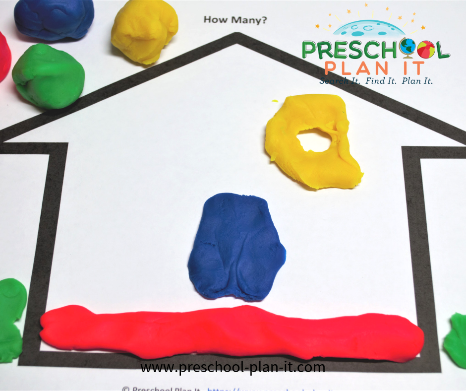 Playdough Activity about Home for a Mother's Day Preschool Theme