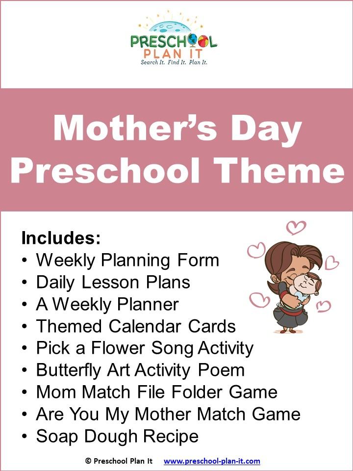 A 40 page Mother's Day Preschool Theme resource packet to help save you planning time!