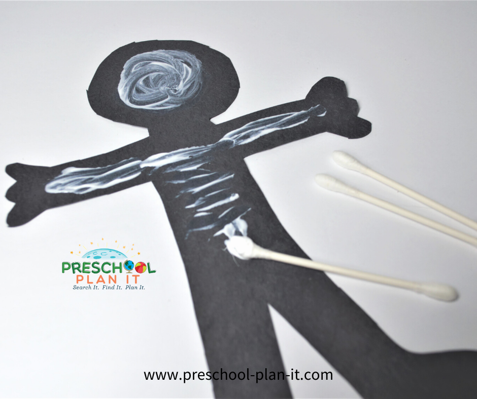 My Body Preschool Theme Bone Painting