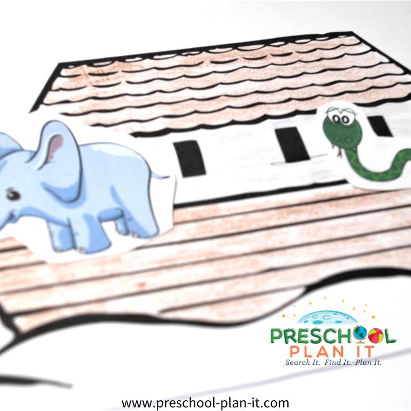 Noah's Ark Preschool Theme Art Activity