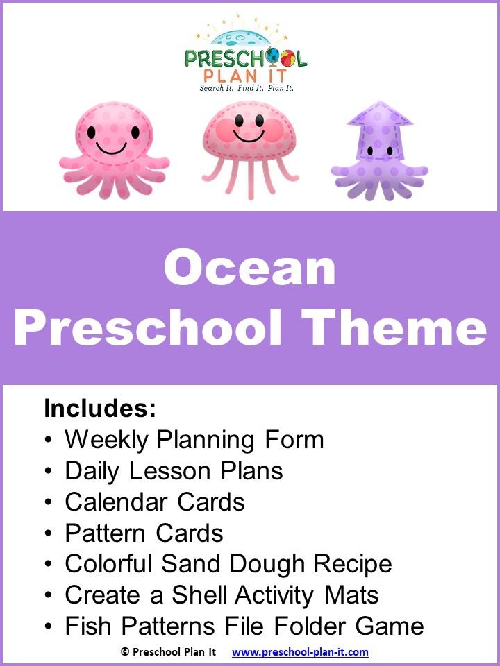 Ocean images for Ocean Preschool Themed Resource