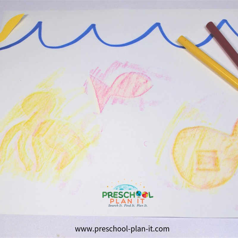 Fish Rubbings Activity from the Ocean Life Preschool Theme