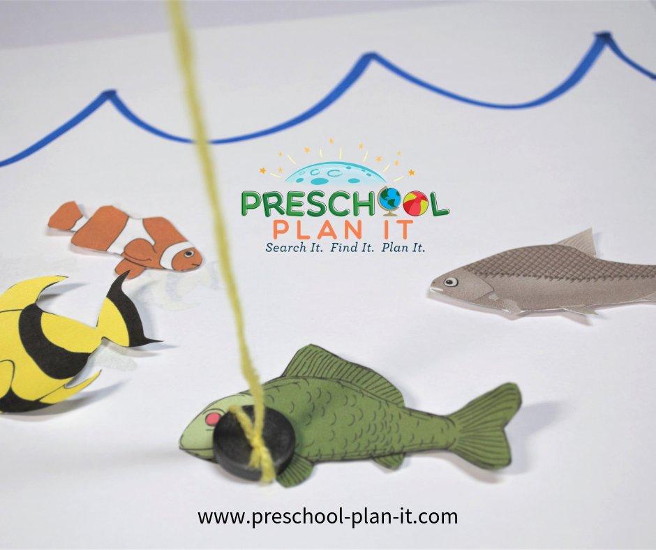 Magnetic Fishing Fun from the Ocean Life Preschool Theme