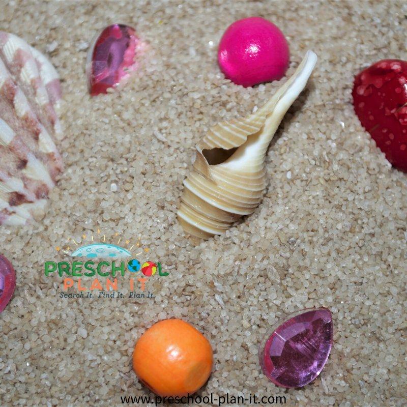 Pirates Preschool Theme Sand Table Activity