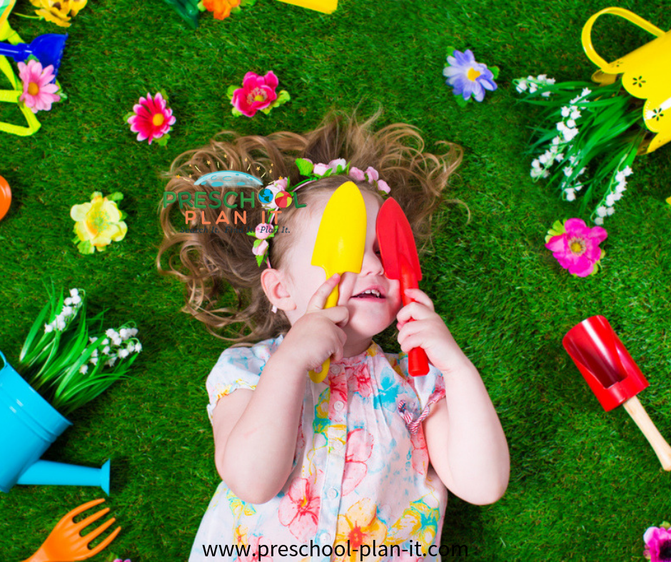 Gardeners in Dramatic Play for a Planting Seeds Preschool Theme