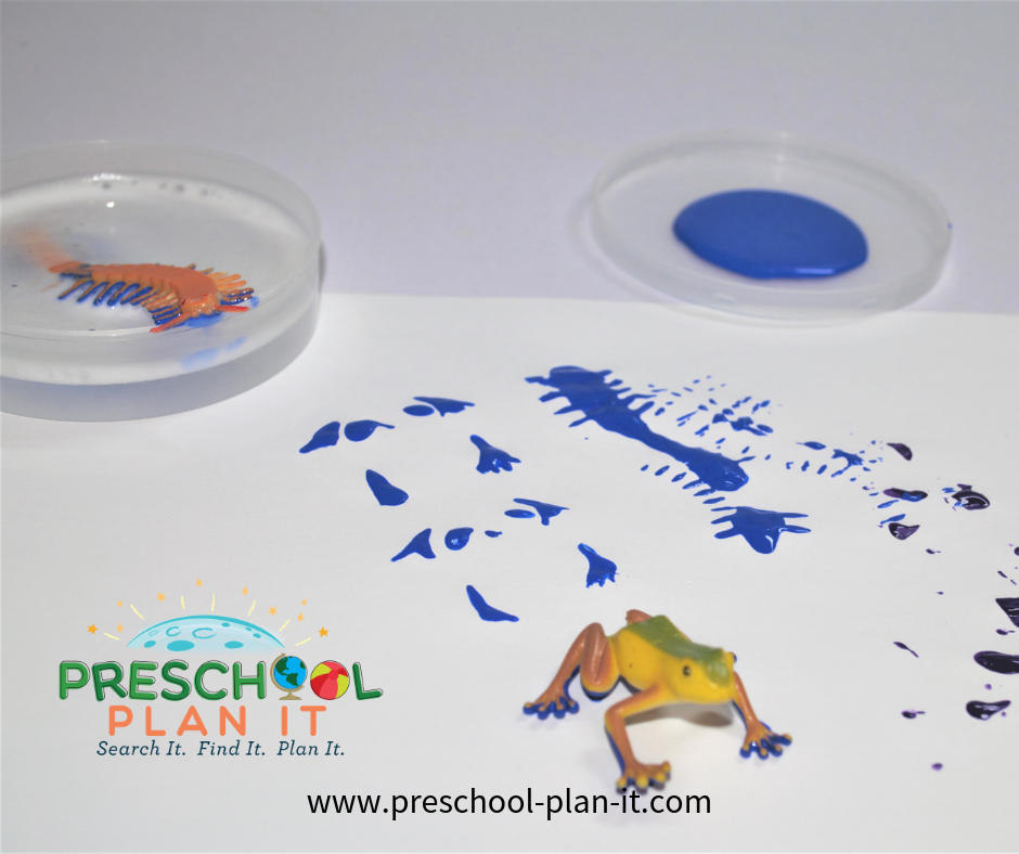 Pond Life Preschool Theme Bug Painting Activity