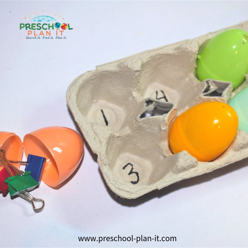 Pond Life Preschool Theme Counting and Sorting Activity