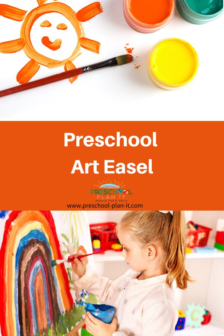 Preschool Art Easel