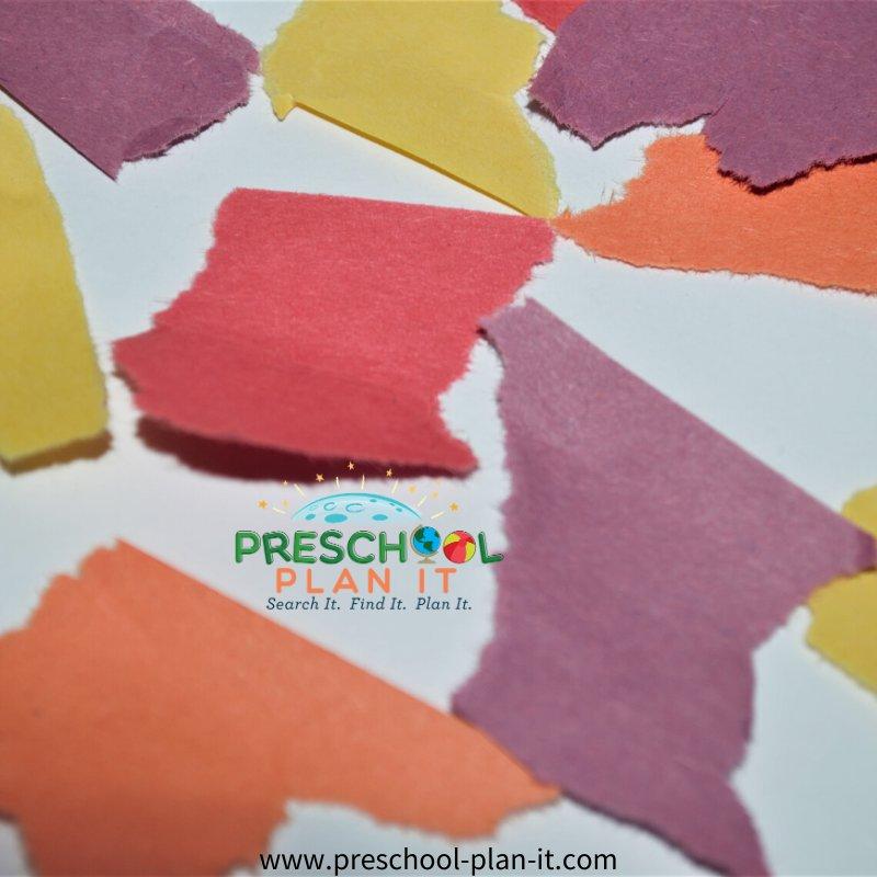 Preschool Colors Theme Art Activity